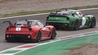 Ferrari Finali Mondiali 2018 Monza Day 3-599 XX EVO,F2005,FKK K & More+Big Crash & Spins