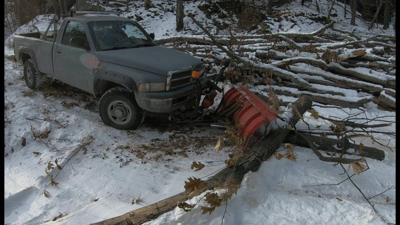 dragging logs   pickup truck youtube