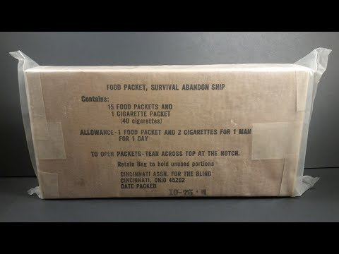 1975-food-packet-survival-abandon-ship-mre-review-emergency-ration-tasting-test