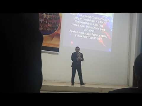 INSPIRASI SUKSES RCA. BPK HENDRI RIKIANTO DI K- LINK INTERNATIONAL   ACARA PSM MEDAN   DISK #1