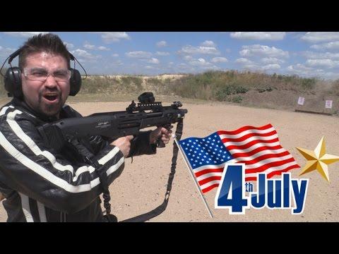 AJ Celebrates July 4th 2016! [DP-12, MP5, P90, & More!]