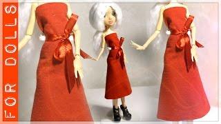 КАК СДЕЛАТЬ ПЛАТЬЕ ДЛЯ КУКЛЫ БЕЗ ШИТЬЯ ♡ ДЛЯ ТЕХ, КТО НЕ УМЕЕТ ШИТЬ ♡ FOR DOLLS(Привет! В этом видео я покажу как легко и просто можно сделать платье для куклы без шитья! Если ты еще не..., 2016-11-25T07:00:00.000Z)