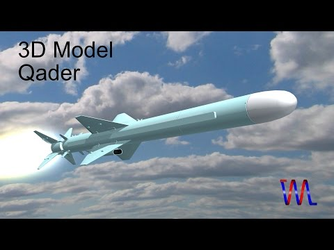 3D model: Qader Cruise missile