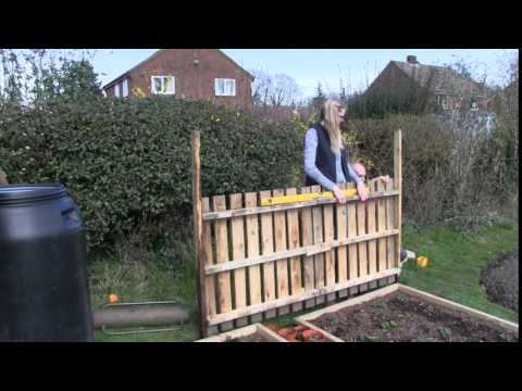 Katie S Allotment March 2014 Fences And Flowers Youtube