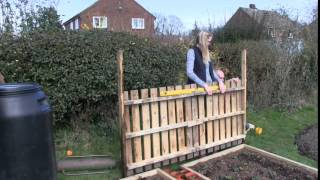 Katie's Allotment - March - Fences And Flowers