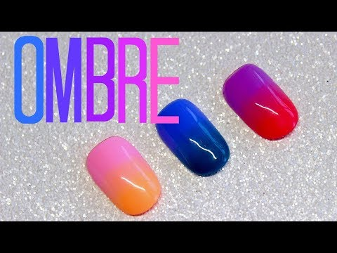 How To Ombre With Gel Polish | Ombre Nail Art Tutorial