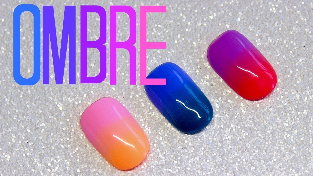 533d4c7437 How To Ombre With Gel Polish | Ombre Nail Art Tutorial - YouTube