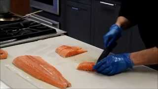 How To Cut Heart Shaped Salmon Portions For Valentine's Day With Chef Davis Denick