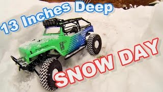 Axial Snow Day TheRcSaylor Way - 13 Inches of Snow - Deadbolt - G6 Falken