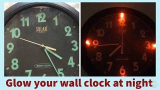 Homemade night glowing wall clock  ⏰ (hindi)