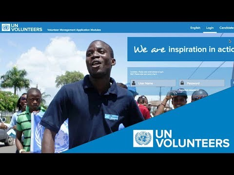 How To Register On The UN Volunteers' Global Talent Pool