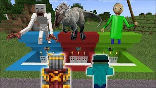 DON'T CHOOSE THE WRONG SECRET HOUSE / BEWARE OF EVIL MONSTERS INSIDE !! Minecraft Mods