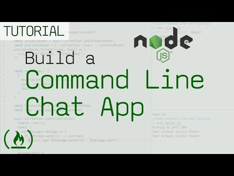 Node js and Chatkit JavaScript tutorial: Build a command