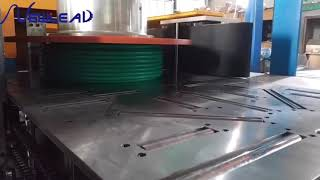 BV cable, power cable automatic packing machine cable coiling labeling and wrapping machine