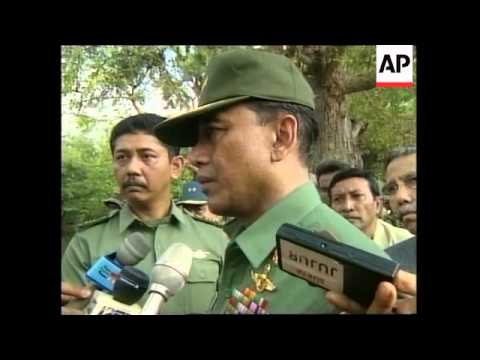 INDONESIA: GENERAL WIRANTO INSPECTS SIGHT OF UN SHOOTING