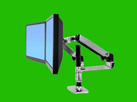 ergotron lx dual lcd arm stacking review youtube