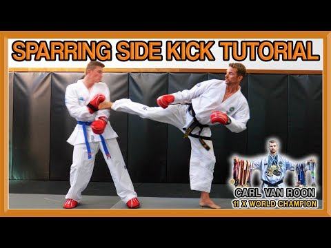 The Perfect Side Kick for Taekwondo Sparring | Van Roon Tutorial