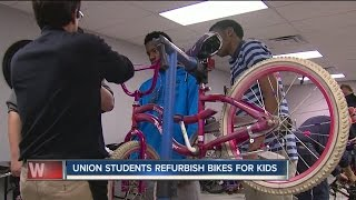 Union Seniors Build Bikes For Kids