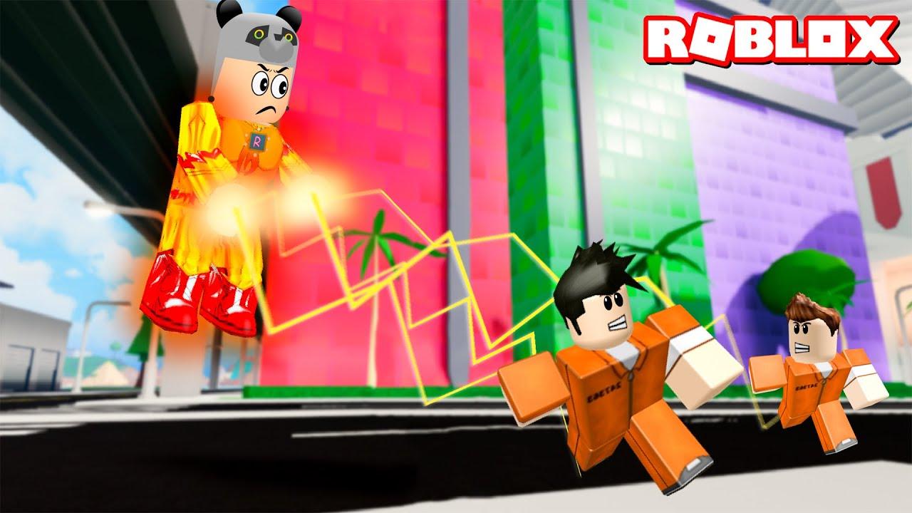 Süper Kahraman Oldum Herkesi Yakaladım!!! Ateş Adam - Roblox Mad City
