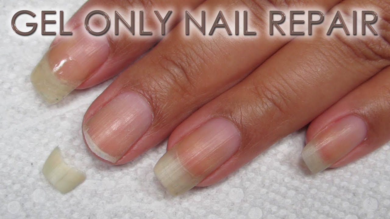 How to Fix a Broken Nail with Gel Only | DIY Nail Repair Tutorial ...
