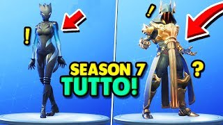 BATTLE PASS SEASON 7 SHOPPED EVERYTHING, SECRET ITEMS!! Fortnite ITA