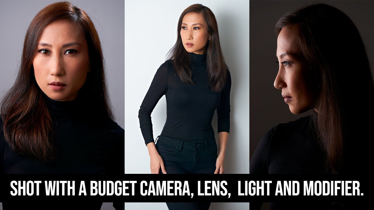 How to Use a BUDGET Camera, Lens, Light and Modifier to Create THREE Beautiful Studio Portraits.
