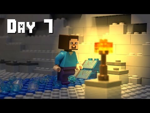 LEGO Minecraft Survival Day 7 (Stop Motion Animation)