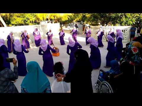 Maldives Kamadhoo traditional Eid celebration