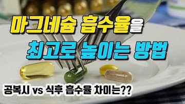 마그네슘의 흡수율을 최고로 높이는 방법 (식사 후 vs 공복시 흡수율 차이는 얼마나 날까?)