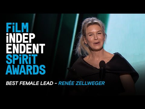RENÉE ZELLWEGER wins Best Female Lead for JUDY at the 35th Film Independent Spirit Awards