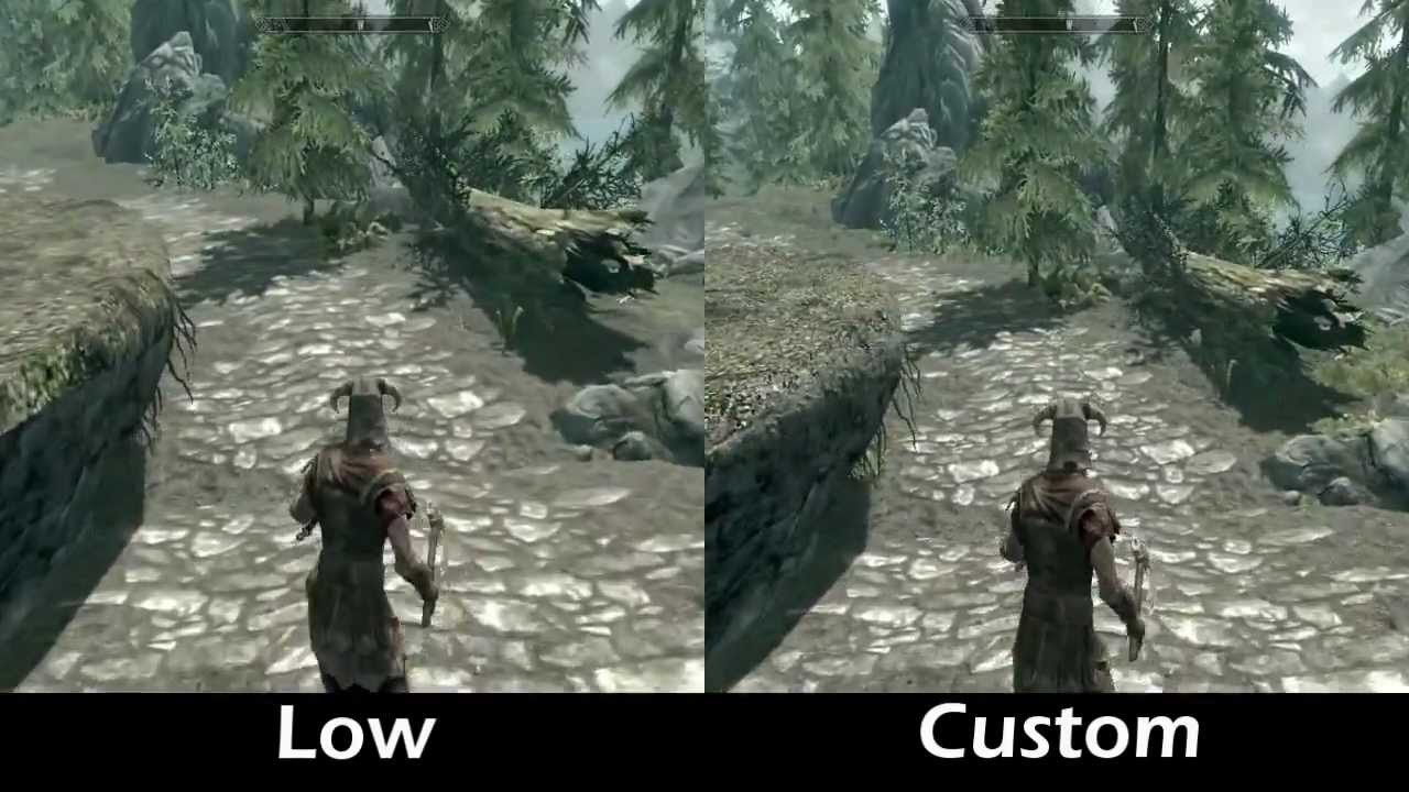 how to change graphics settings on skyrim