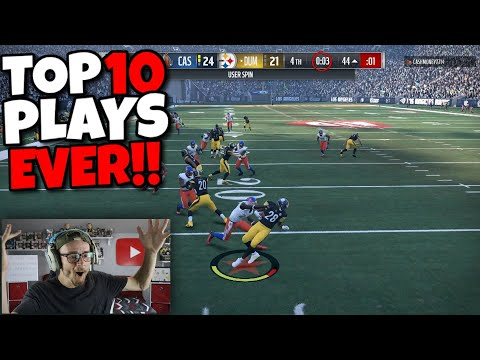 Reacting To My TOP 10 PLAYS OF THE ENTIRE YEAR!! (Madden NFL 18)