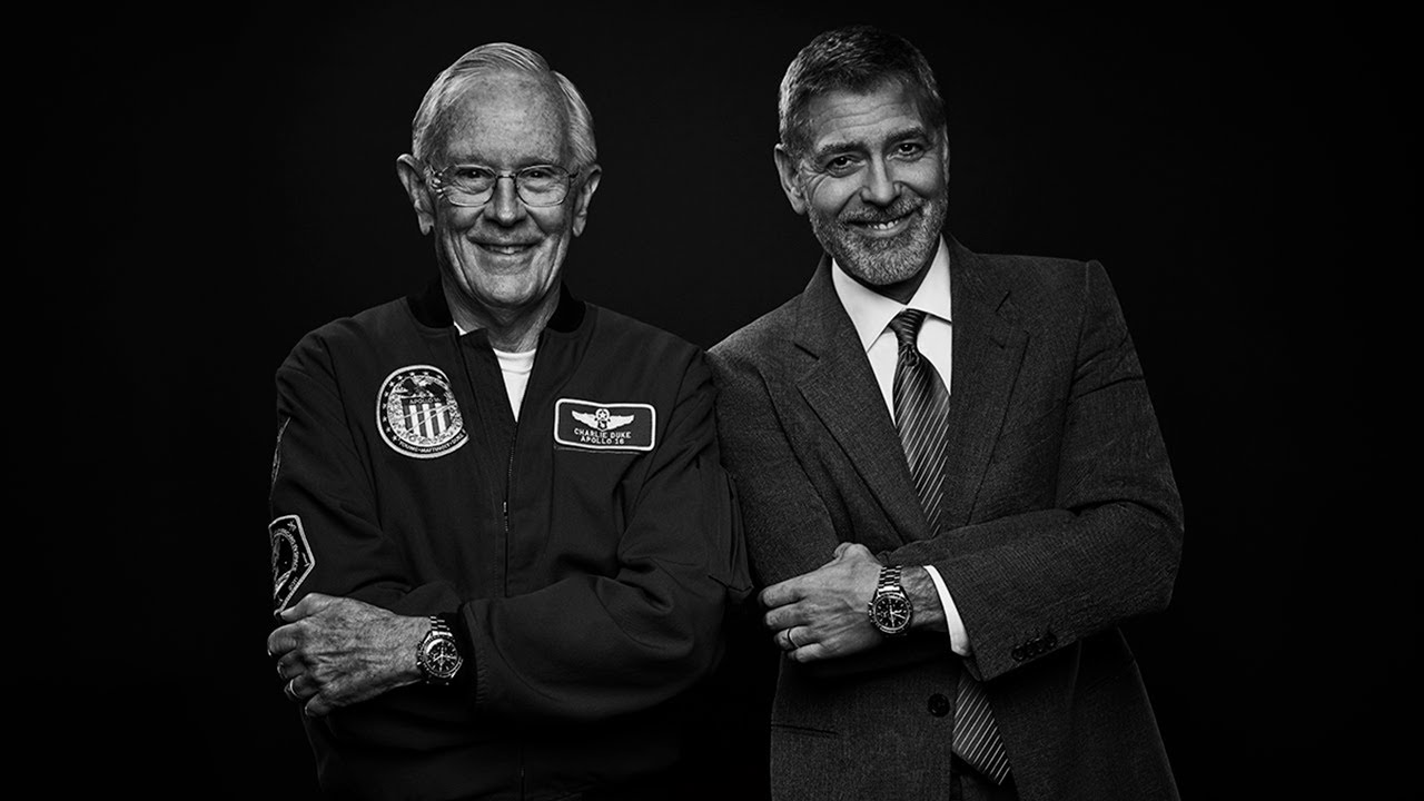 George Clooney and NASA legend Charlie Duke talk space