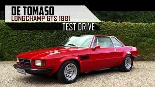 DE Tomaso Longchamp GTS 1981 SCC - Test Drive in top gear - DeTomaso V8 engine sound