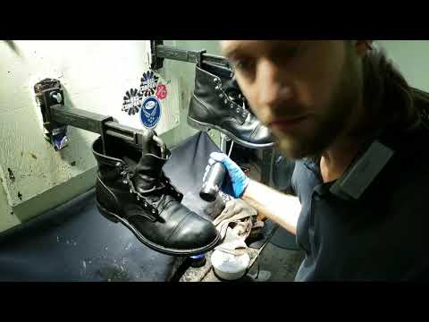Red Wing 8114 boots, Shoe Shine Master Dornstar, ASMR