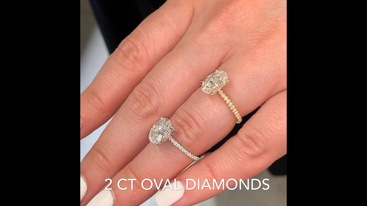 2 carat Oval Diamond Ring Comparison