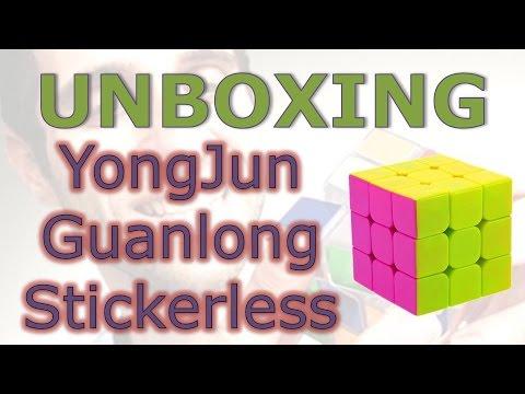 Cubo Mágico YongJun Guanlong sem adesivos (unboxing)