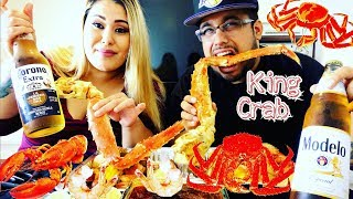 Seafood Boil Mukbang: King Crab, Lobster Tail, Tiger Shrimp | Red King Crab / Eating show 먹방