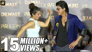 Shahrukh Khan & Kajol's FUNNY Poses At Dilwale Manma Emotion Jaage Song Launch | Varun Dhawan, Kriti