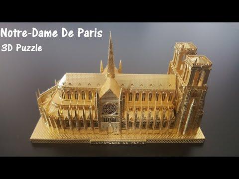 Notre-Dame De Paris - 3D Metal Model Nano Puzzle, Our Lady of Paris