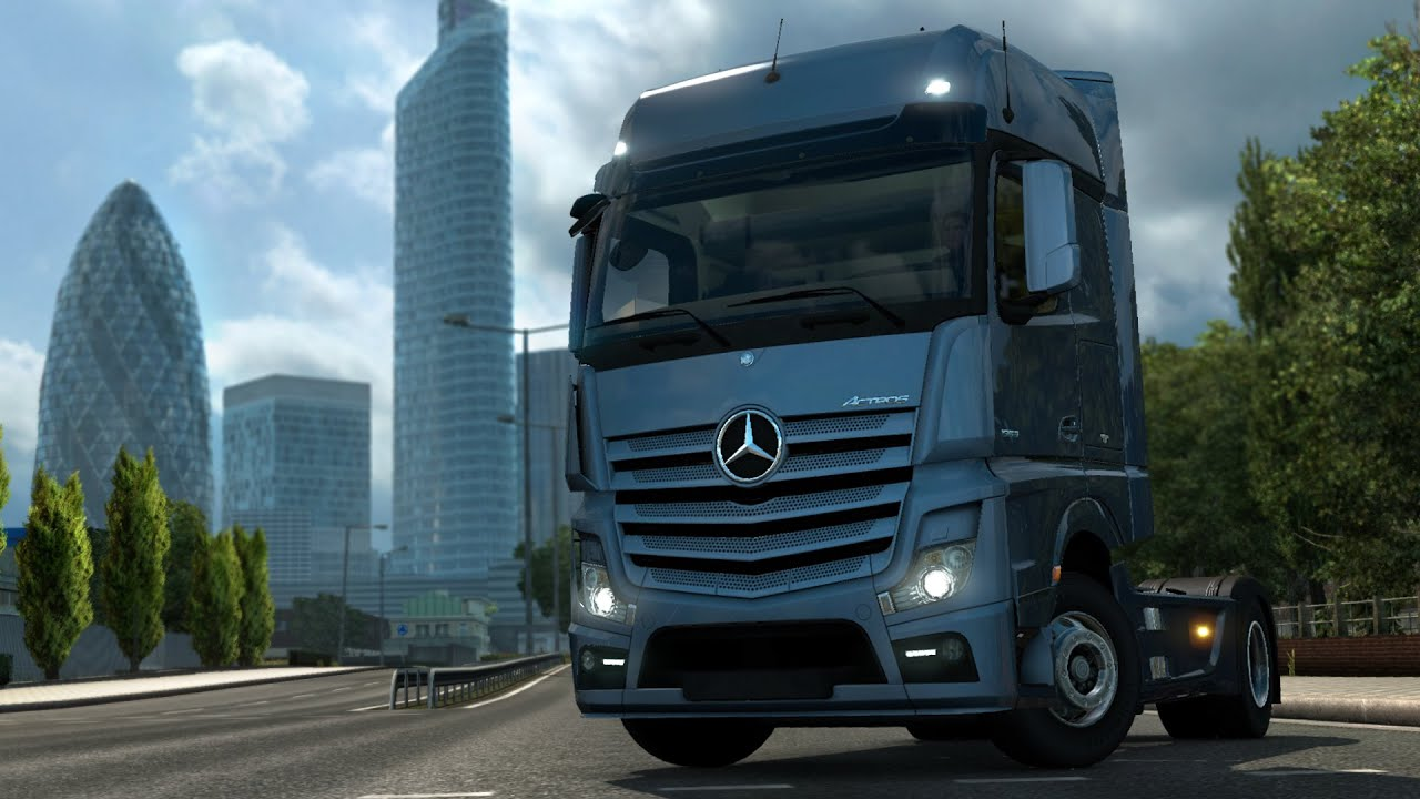 Euro truck simulator 2 introducing mercedes benz new for The new mercedes benz truck