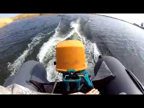 Новый мотор Ветерок 8 Э, обкатка. Покорение Волгоградского водохранилища.