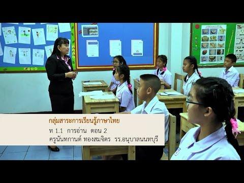 ภาษาไทย ท 1.1 การอ่าน  ตอน 2 ครูนันทกานต์ ทองสมจิตร