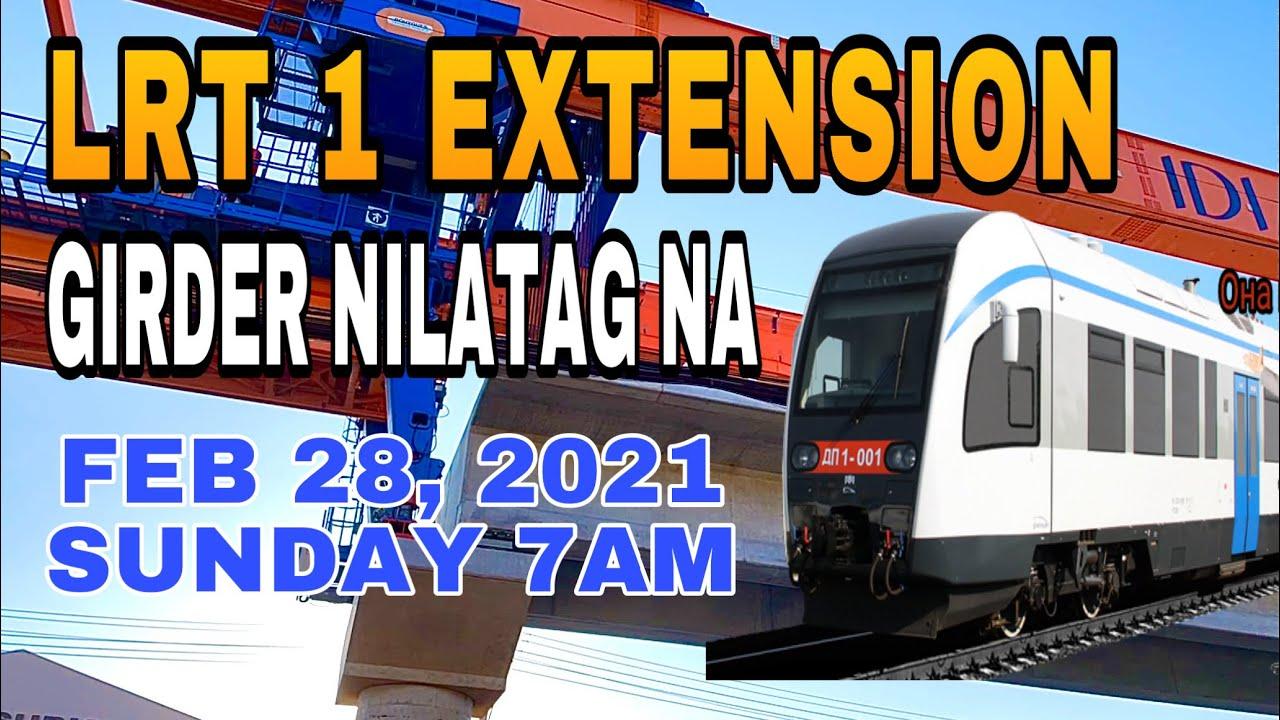 LRT 1 EXTENSION FEB 28, 2021 | GIRDER NILATAG NA KANINA LANG ITONG UMAGA PARA UPDATED PO TAYO |SUCAT