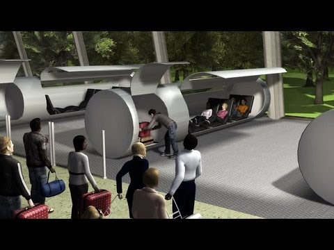"Future Travel ""HyperLoop"" : It will 'shoot' passengers 800mph from L.A to San Francisco in 30 mins"