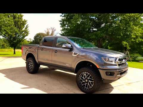 WEST TN 2019 FORD RANGER LARIAT CREW CAB ROUGH COUNTRY LIFT LEATHER USED FOR SALE SUNSETMOTORS.COM