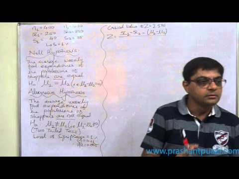 Z   Test   2   Test Of Significance Of Difference Between Two Means