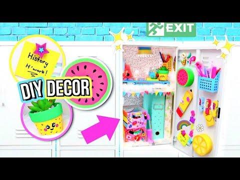 DIY Locker Decorations! DECORATING MY LOCKER! How To Locker Organization!