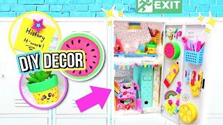 DIY Locker Decorations! DECORATING MY LOCKER! How To Locker Organization!