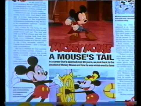 Disney videos with the news of the world (OLD Adverts)